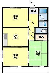 愛知県豊田市小坂町1丁目の賃貸マンションの間取り
