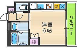トーシン阪南町ビル[701号室]の間取り