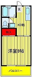 メゾン・ド・ヒラヤマ A棟 B棟[B102号室]の間取り