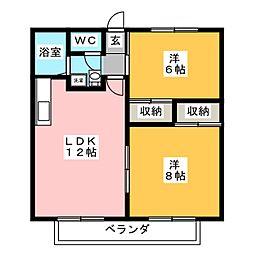 エクセル中田[2階]の間取り
