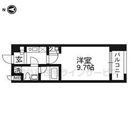 プレサンスNEO京都烏丸401[4階]の間取り