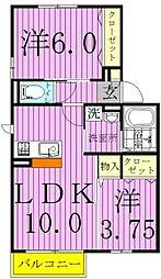 インペリアル柳之宮[203号室]の間取り