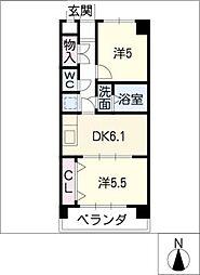 シュクル[1階]の間取り