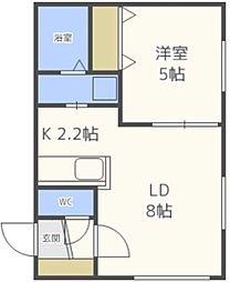 北海道札幌市北区北二十一条西6の賃貸マンションの間取り