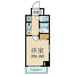 東京メトロ丸ノ内線 西新宿駅 徒歩8分の賃貸マンション 4階1Kの間取り