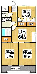 JUN谷戸ハイツ[3階]の間取り