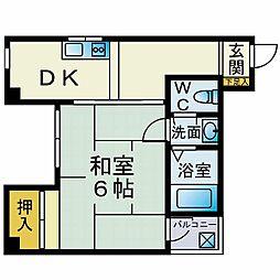 カーサ飯島[505号室]の間取り