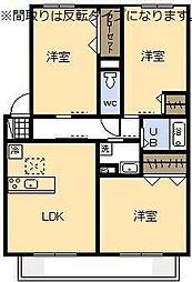 (新築)セジュール・アイII A棟[102号室]の間取り
