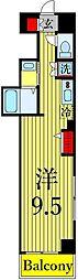 東京メトロ日比谷線 三ノ輪駅 徒歩3分の賃貸マンション 6階ワンルームの間取り