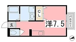 メゾンドール[106号室]の間取り