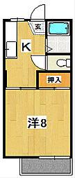 ドミールハウス[101号室]の間取り