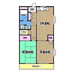 AQUA CITY 昭島[3階]の間取り