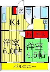 吉田荘[101号室]の間取り
