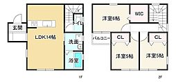 JR東海道・山陽本線 ひめじ別所駅 徒歩19分 3LDKの間取り