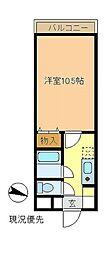 神奈川県茅ヶ崎市元町の賃貸マンションの間取り