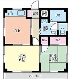 コスモAoi湘南2[4階]の間取り