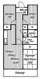 ソシアル検見川2[4階]の間取り