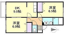 ハピネス21[2階]の間取り
