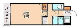 福岡県福岡市中央区桜坂2丁目の賃貸マンションの間取り
