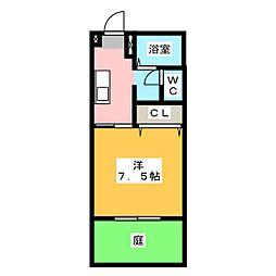 ベルテ97[1階]の間取り