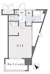ALFACIO DIFOND 6階ワンルームの間取り