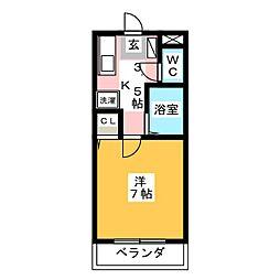 ハイツ藤II[1階]の間取り