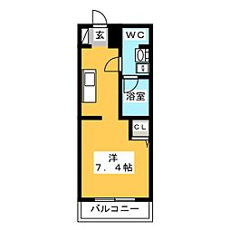 ライフステージ二日市 弐番館[1階]の間取り