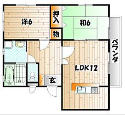 HWTさくら B棟[2階]の間取り