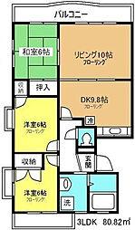 プリムローズ西浦和[4階]の間取り