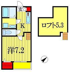 千葉県習志野市鷺沼3丁目の賃貸アパートの間取り