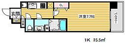 ダブルスタイル神戸2[12階]の間取り