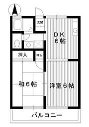 東京都練馬区春日町の賃貸アパートの間取り