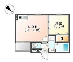 GRACE大曽根[2階]の間取り