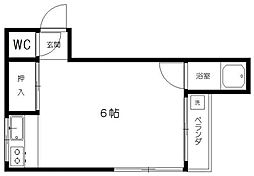 東京都文京区大塚4丁目の賃貸アパートの間取り