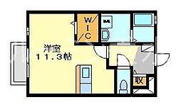 ル・パラディ[1階]の間取り