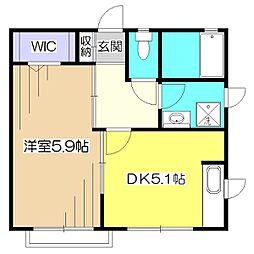 ヴェルドミール[2階]の間取り
