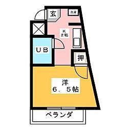 アスカビル[3階]の間取り