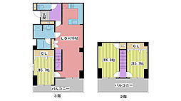兵庫県姫路市北新在家1丁目の賃貸マンションの間取り
