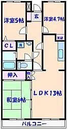 ルミナス藤[402号室]の間取り