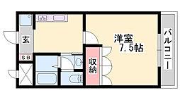 JR播但線 野里駅 バス13分 大野停下車 徒歩1分の賃貸アパート 1階1Kの間取り