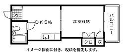 ハイム三滝[509号室]の間取り