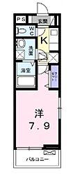 メゾン・シンシア[203号室号室]の間取り