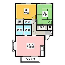 セピアコートA・B[2階]の間取り