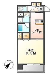 Grand Eterna 名古屋鶴舞(グランエターナ)[9階]の間取り