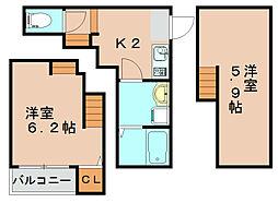 グランプラス箱崎2[1階]の間取り