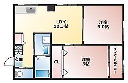 オーナーズマンション南巽[4階]の間取り