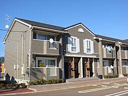 新潟県村上市松山の賃貸アパートの外観