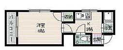 ビラプリンセスB[3階]の間取り