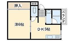 コーポ泉ヶ丘[303号室]の間取り