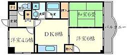 リバーサイドプラザ[3階]の間取り